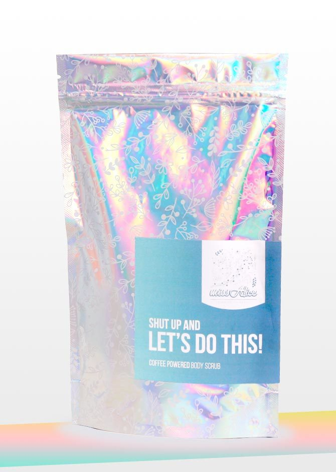 Shut up and let's do this! / coffee-powered body scrub